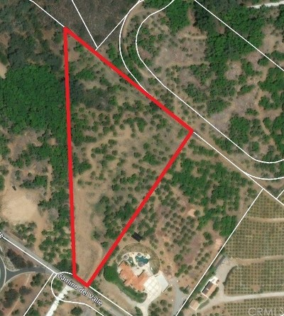 Temecula Residential Lots & Land For Sale: Camino Del Valle