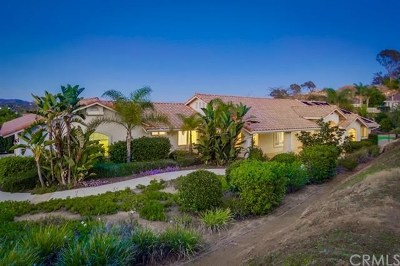 Fallbrook Single Family Home For Sale: 2449 Trails End
