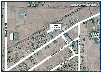 Barstow Residential Lots & Land For Sale: Anderson Avenue