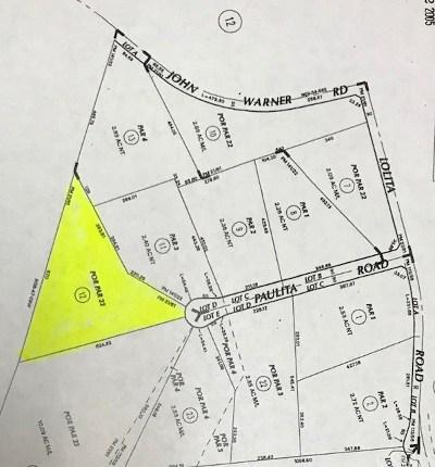 Temecula Residential Lots & Land For Sale: Paulita