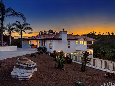 Fallbrook Single Family Home For Sale: 2230 Calle Dos Lomas