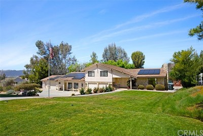 Temecula Single Family Home Active Under Contract: 28870 Via Norte