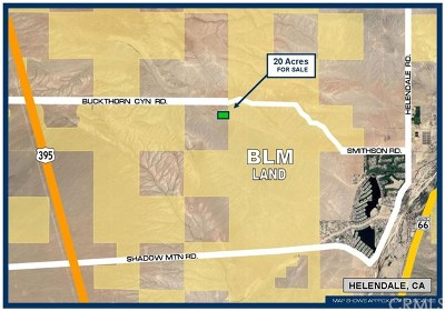 Helendale Residential Lots & Land For Sale: Near Buckthorn Canyon Road