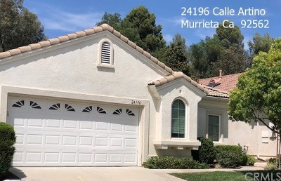 Murrieta Single Family Home For Sale: 24196 Calle Artino