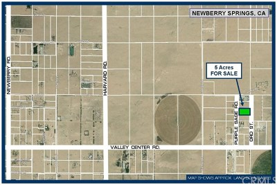 Newberry Springs Residential Lots & Land For Sale: Purple Sage Road