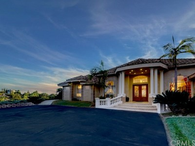 Fallbrook Single Family Home For Sale: 4333 Vista Del Pacifico