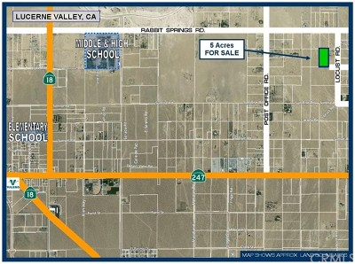 Lucerne Valley Residential Lots & Land For Sale: Near Broken Arrow Road