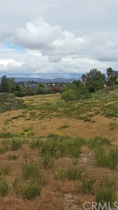 Temecula Residential Lots & Land For Sale: Santiago Rd