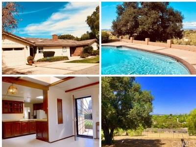 Fallbrook Single Family Home For Sale: 1720 Acacia Lane