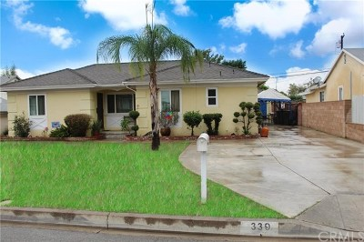 West Covina Single Family Home For Sale: 339 N Hartley Street