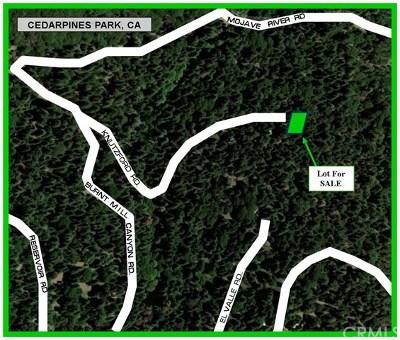 Arrowbear, Big Bear, Blue Jay, Cedar Glen, Cedarpines Park, Crestline, Lake Arrowhead, Running Springs Area, Rimforest, Twin Peaks, Wrightwood Residential Lots & Land For Sale: Knutzford Road