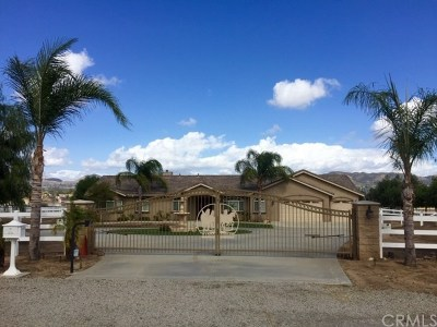 Wildomar Single Family Home For Sale: 21900 Highland Street