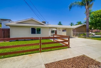 Escondido Single Family Home For Sale: 1415 S Maple Street