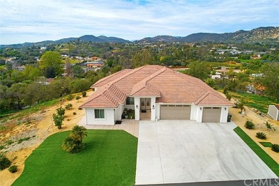 Fallbrook Single Family Home For Sale: 5464 Rainbow Heights Road