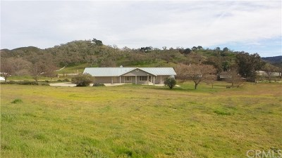 Santa Margarita, Templeton, Atascadero, Paso Robles Single Family Home For Sale: 9670 Reservoir Road