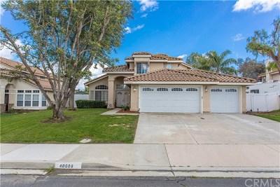 Murrieta Single Family Home For Sale: 40608 Alondra Drive