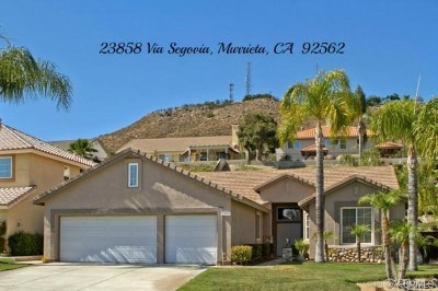Murrieta Single Family Home For Sale: 23858 Via Segovia