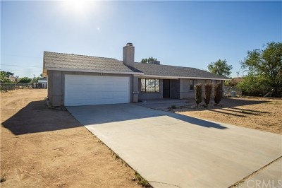 Apple Valley Single Family Home For Sale: 14638 Central Road