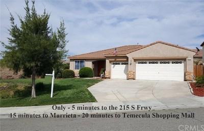 Menifee Single Family Home For Sale: 31312 Drake Circle