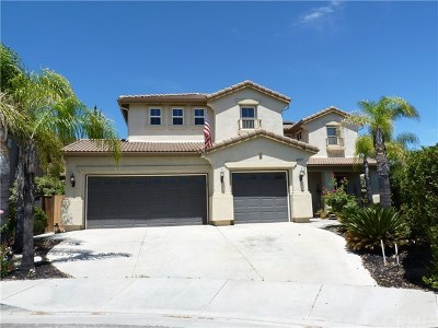 Murrieta Single Family Home For Sale: 41337 Grand View Drive