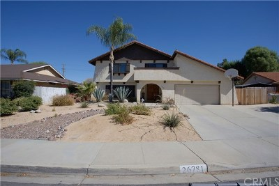 Hemet, San Jacinto Single Family Home For Sale: 26781 Sol Court