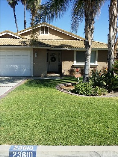 Riverside County Single Family Home For Sale: 23610 Continental Dr