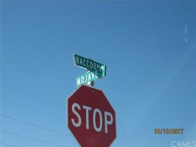 San Bernardino County Residential Lots & Land For Sale: Mojave & Calendula (Raccoon)