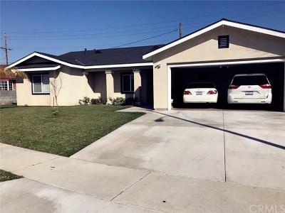 La Puente Single Family Home For Sale: 14533 Culp Street
