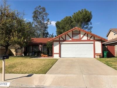 Walnut Single Family Home For Sale: 20763 Greenside Drive
