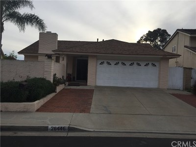Mission Viejo Single Family Home For Sale: 26446 Fresno Dr