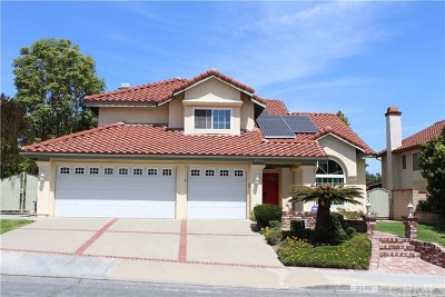 Chino Hills Single Family Home For Sale: 2536 Olympic View Drive