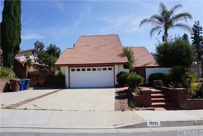 Walnut Single Family Home For Sale: 20325 Half Moon Lane