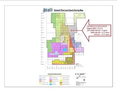 Adelanto Residential Lots & Land For Sale: Nichols & Jonathan 9.77 Ac Road