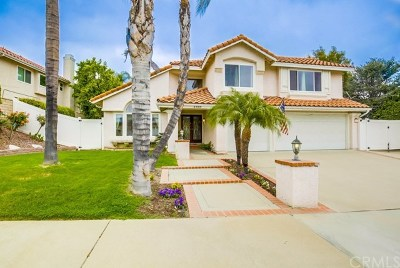 Chino Hills Single Family Home For Sale: 2888 Olympic View Drive