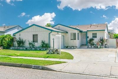 Artesia Single Family Home For Sale: 17508 Jersey Avenue