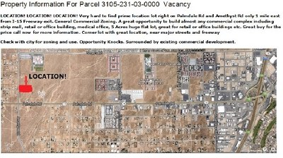 Victorville Residential Lots & Land For Sale: 14201 Amethyst Road