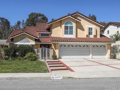 Diamond Bar Single Family Home For Sale: 24312 Delta Drive