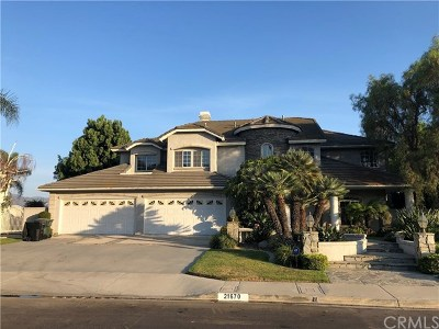 Yorba Linda Single Family Home For Sale: 21670 Dunrobin Way