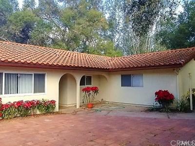 Fallbrook Single Family Home For Sale: 1343 Live Oak Park Road
