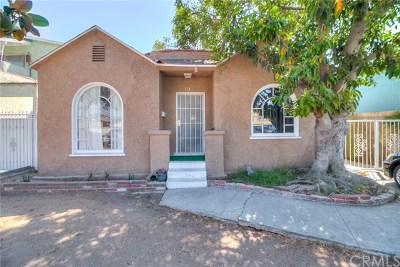 Los Angeles Single Family Home For Sale: 144 W 101st Street