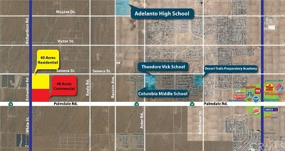 Adelanto Residential Lots & Land For Sale: 31025110 Palmdale Road/Richardson Rd