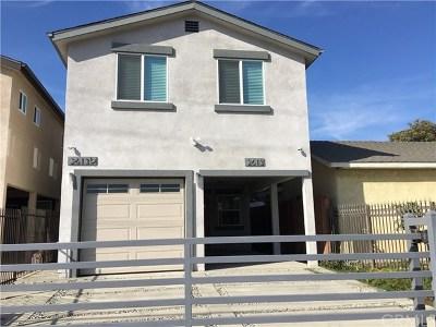 Compton Multi Family Home For Sale: 2613 E Oris Street E