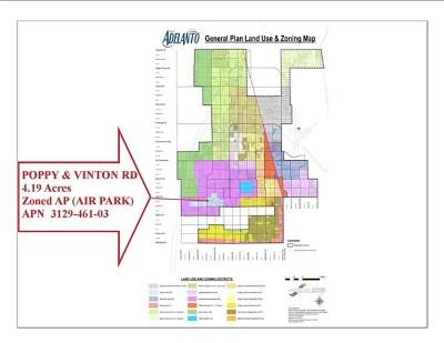 Adelanto Residential Lots & Land For Sale: Poppy Vinton 4.19ac Road