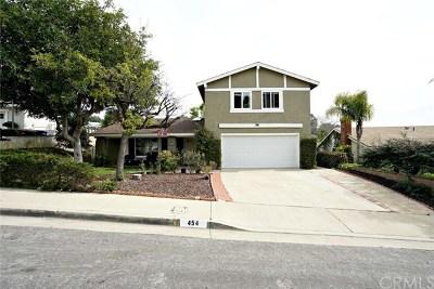 Walnut Single Family Home For Sale: 454 Vista Rambla