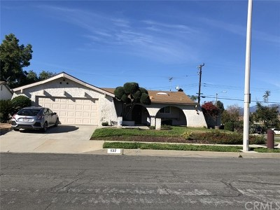 San Dimas Single Family Home For Sale: 137 N Rennell Avenue