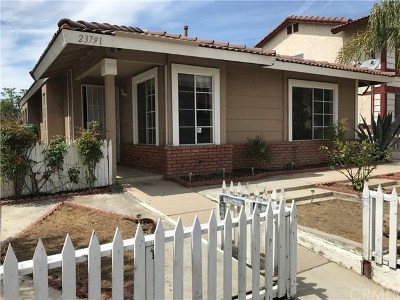 Moreno Valley Single Family Home For Sale: 23791 Parkland Avenue