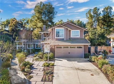 Chino Hills Single Family Home For Sale: 14279 Parkside Court