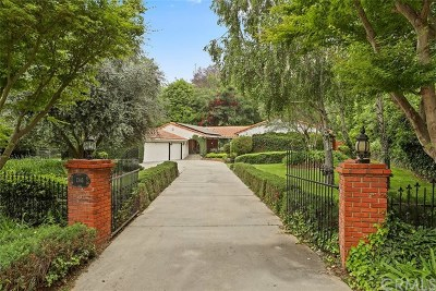 La Habra Heights Single Family Home For Sale: 1345 East Road