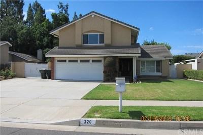 Placentia Single Family Home Active Under Contract: 320 Montessori Avenue