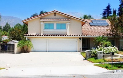 Upland Single Family Home For Sale: 641 Trail View Court